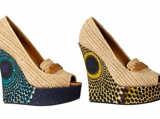 chaussure talon en wax
